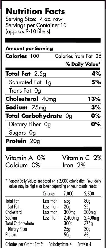 Swai fish nutritional value blog dandk for Swai fish nutrition